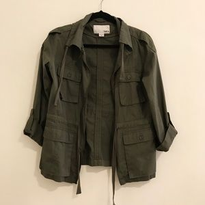 Bar III Army Green Anorak Jacket